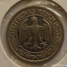 Monedas antiguas de Europa: 50 PFENNIG DE ALEMANIA DE 1937. Lote 244866005
