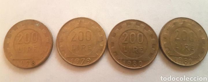 ITALIA. CUATRO MONEDAS DE 200 LIRAS. AÑOS 1978, 79, 80 Y 81 (Numismática - Extranjeras - Europa)