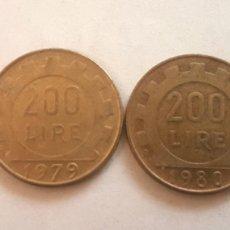 Monedas antiguas de Europa: ITALIA. CUATRO MONEDAS DE 200 LIRAS. AÑOS 1978, 79, 80 Y 81. Lote 244866165