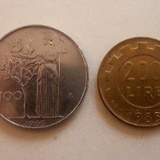 Monedas antiguas de Europa: ITALIA. LOTE DE CUATRO MONEDAS, DE 50, 100, 200 Y 500 LIRAS. Lote 244867245