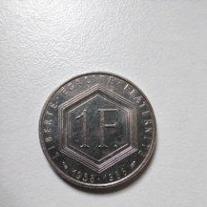 Monedas antiguas de Europa: MONEDA 1 FRANCO FRANCIA CHARLES DE GAULLE 1958-1988. Lote 244903260