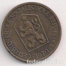 Monedas antiguas de Europa: CHECOSLOVAQUIA - 1 CORONA 1970 - KM#50. Lote 244903420