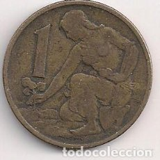 Monedas antiguas de Europa: CHECOSLOVAQUIA - 1 CORONA 1962 - KM#50. Lote 244903635