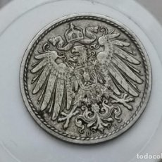 "Monedas antiguas de Europa: ALEMANIA5PENIQUES,1910 CECA ""D"" – MÚNICH. Lote 245135450"