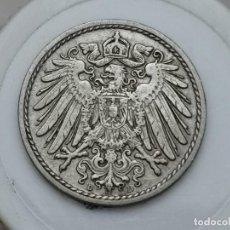 "Monedas antiguas de Europa: ALEMANIA5PENIQUES,1908 CECA ""D"" – MÚNICH. Lote 245135530"