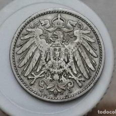 "Monedas antiguas de Europa: ALEMANIA10PENIQUES,1907 MARCA DE CECA ""A"" – BERLÍN. Lote 245135775"