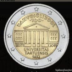 Monedas antiguas de Europa: ESTONIA 2019 2 EUROS CONMEMORATIVOS SC CENTENARIO DE LA FUNDACIÓN DE LA UNIVERSIDAD DE TARTU. Lote 245394515