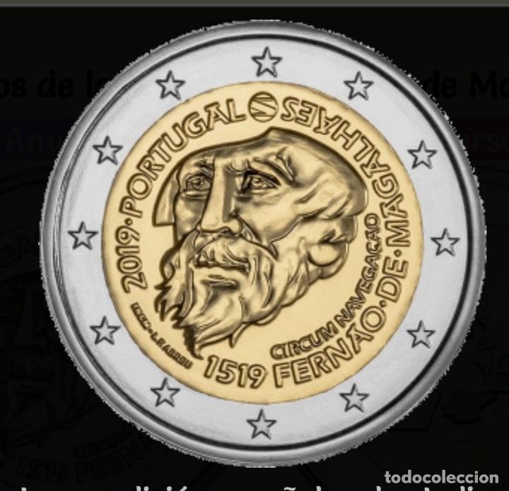 PORTUGAL 2019 2 EUROS CONMEMORATIVOS SC 500 AÑOS DE LA CIRCUNNAVEGACIÓN DE MAGALLANES (Numismática - Extranjeras - Europa)