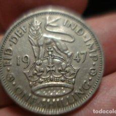 Monedas antiguas de Europa: GRAN BRETAÑA 1 CHELIN ONE SHILLING JORGE VI AÑO 1947 - MIRA MAS DE ESTE PAIS EN VENTA. Lote 246365680