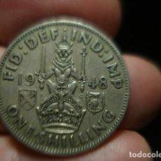 Monedas antiguas de Europa: GRAN BRETAÑA 1 CHELIN ONE SHILLING JORGE VI AÑO 1948 - MIRA MAS DE ESTE PAIS EN VENTA. Lote 246365715