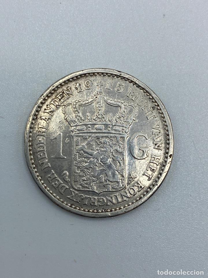 Monedas antiguas de Europa: MONEDA. HOLANDA. 1 GULDEN. WILHERMINA KONINGIN. 1915. VER FOTOS - Foto 3 - 246831100