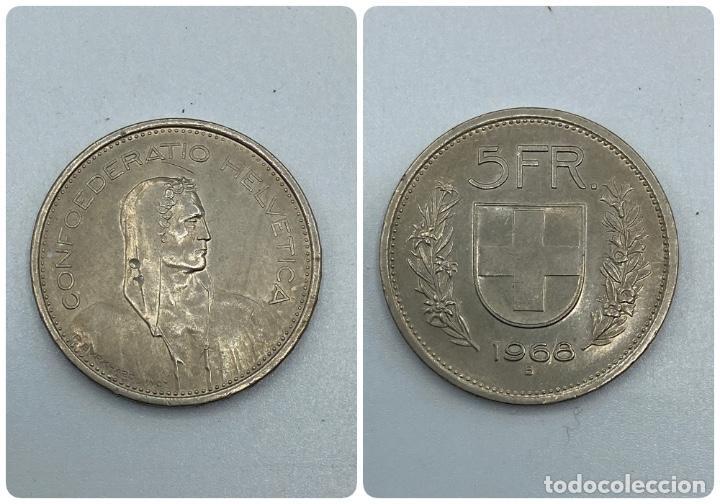 MONEDA. SUIZA. 5 FRANCOS. 1968 - B. VER FOTOS (Numismática - Extranjeras - Europa)