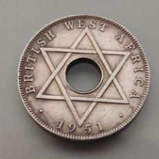 Monedas antiguas de Europa: MONEDA HALF PENNY 1951 WEST AFRICA GEORGIVS VI FECHA RARA. Lote 247127450