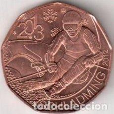 Monedas antiguas de Europa: AUSTRIA 2012 5 EUROS. 42º CAMPEONATO MUNDIAL DE ESQUÍ ALPINO, SCHLADMING 2013. Lote 262584850