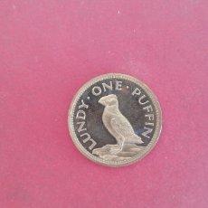Monedas antiguas de Europa: 1 PUFFIN DE LUNDY 1977. Lote 247917495