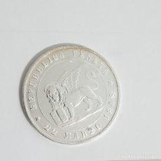 Monedas antiguas de Europa: MONEDA PLATA VENECIA (REPUBBLICA VENETA) 5 LIRAS 1848. Lote 247917695