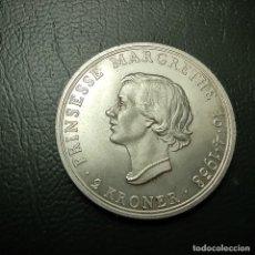 Monedas antiguas de Europa: DINAMARCA 2 CORONAS 1958 SIN CIRCULAR (KRONER) PLATA 15 G 0,800 FEDERICO Y MARGARITA, ESCASA,. Lote 248593750