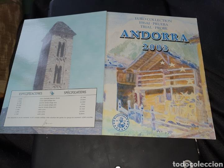 SET EUROS A PRUEBA ANDORRA 2003 (Numismática - Extranjeras - Europa)