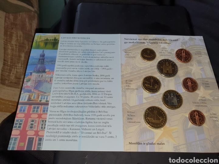 Monedas antiguas de Europa: Set de 8 moneda euro prototipo republica latvijas 2004 - Foto 2 - 251187920