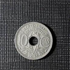 Monedas antiguas de Europa: FRANCIA 10 CENTIMES 1938 KM866A. Lote 252394795