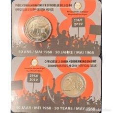 Monnaies anciennes de Europe: BÉLGICA 2018 2 EUROS CONMEMORATIVOS COINCARD MAYO 68 CERTIFICADO. Lote 252857125