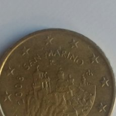 Monedas antiguas de Europa: SAN MARINO MONEDA DE 50 CENT DE EURO DE 2008. Lote 253159750