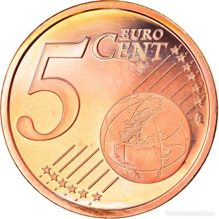 Monedas antiguas de Europa: Mónaco, 5 Euro Cent, 2005, Paris, BE, FDC, Cobre chapado en acero, Gadoury:MC - Foto 2 - 253416735