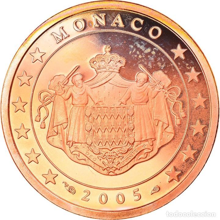 MÓNACO, 5 EURO CENT, 2005, PARIS, BE, FDC, COBRE CHAPADO EN ACERO, GADOURY:MC (Numismática - Extranjeras - Europa)