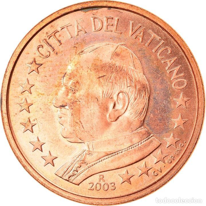 CIUDAD DEL VATICANO, 5 EURO CENT, 2003, ROME, SC, COBRE CHAPADO EN ACERO, KM:343 (Numismática - Extranjeras - Europa)