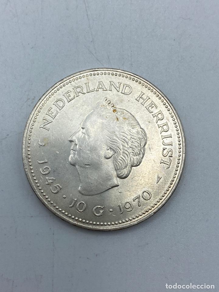 Monedas antiguas de Europa: HOLANDA. 10 GULDEN DE PLATA. GUILLERMINA Y JULIANA. AÑO 1945 - 1970. VER FOTOS - Foto 2 - 253416820