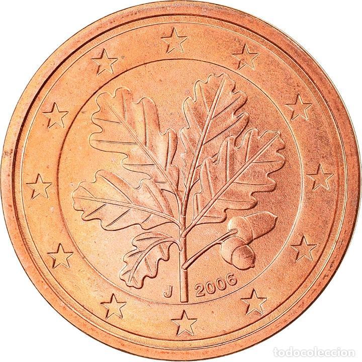 ALEMANIA - REPÚBLICA FEDERAL, 2 EURO CENT, 2006, HAMBOURG, SC, COBRE CHAPADO EN (Numismática - Extranjeras - Europa)