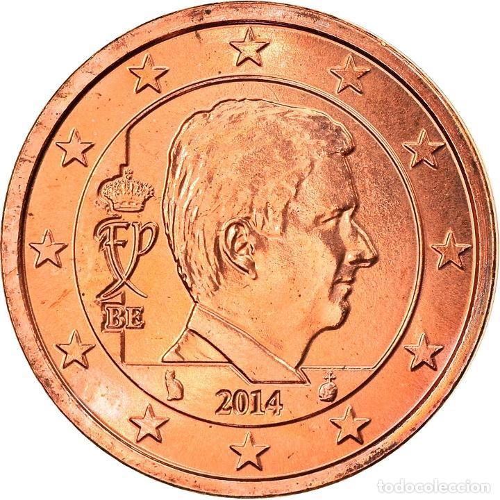 BÉLGICA, 2 EURO CENT, 2014, KING PHILIPPE, SC, COBRE CHAPADO EN ACERO, KM:NEW (Numismática - Extranjeras - Europa)