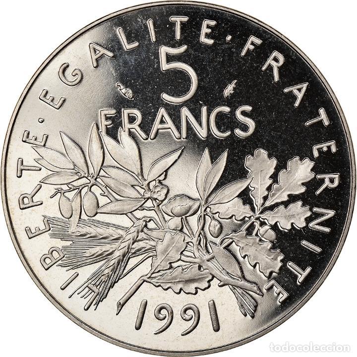 Monedas antiguas de Europa: Moneda, Francia, Semeuse, 5 Francs, 1991, Paris, EBC+, Níquel recubierto de - Foto 2 - 253417580