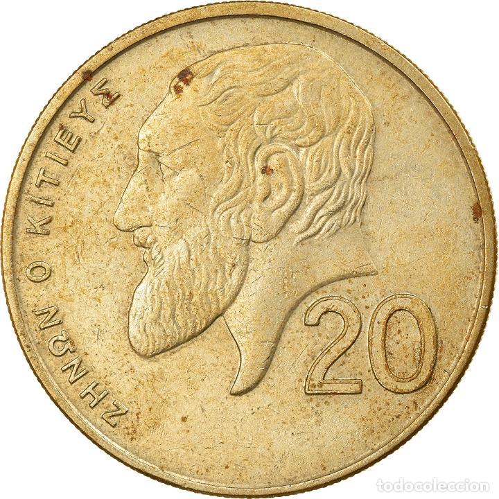 Monedas antiguas de Europa: Moneda, Chipre, 20 Cents, 1991, BC+, Níquel - latón, KM:62.2 - Foto 2 - 253417835