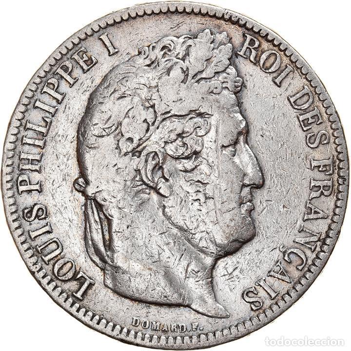 MONEDA, FRANCIA, LOUIS-PHILIPPE, 5 FRANCS, 1831, BORDEAUX, BC, PLATA, KM:745.7 (Numismática - Extranjeras - Europa)