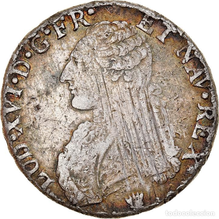 MONEDA, FRANCIA, LOUIS XVI, ÉCU AUX BRANCHES D'OLIVIER, ECU, 1784, LIMOGES, BC (Numismática - Extranjeras - Europa)