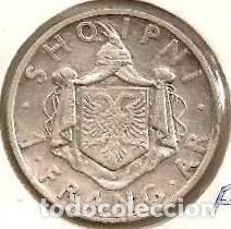 ALBANIA. 1 FRANG AR 1937. KM 16. PLATA. (Numismática - Extranjeras - Europa)