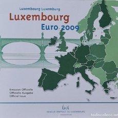 Monedas antiguas de Europa: LUXEMBURGO 2009 CARTERA OFICIAL BU EURO SET + 2 X 2 EUROS CONMEMOTATUVOS. Lote 254624480