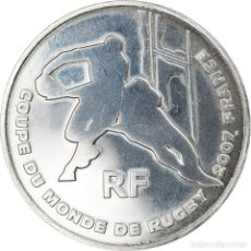Monedas antiguas de Europa: FRANCIA, 1/4 EURO, COUPE DU MONDE DE RUGBY EN FRANCE, 2007, PARIS, BU, SC. Lote 254670160