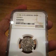 Monedas antiguas de Europa: AUTENTICA MONEDA DE LAS CRUZADAS TRAM DE LEON I 1198.D.C-1.219D.C CERTIFICADA NGC. Lote 254802665