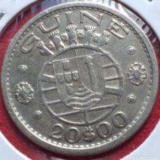 Monedas antiguas de Europa: GUINEA 20 ESCUDOS DE PLATA 1952. Lote 254907700