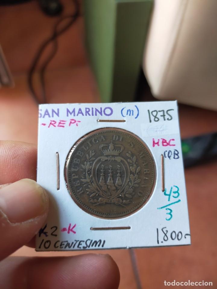 MONEDA DE 10 DIEZ CENTESIMI SAN MARINO 1875 MUY BUENA CONSERVACION (Numismática - Extranjeras - Europa)