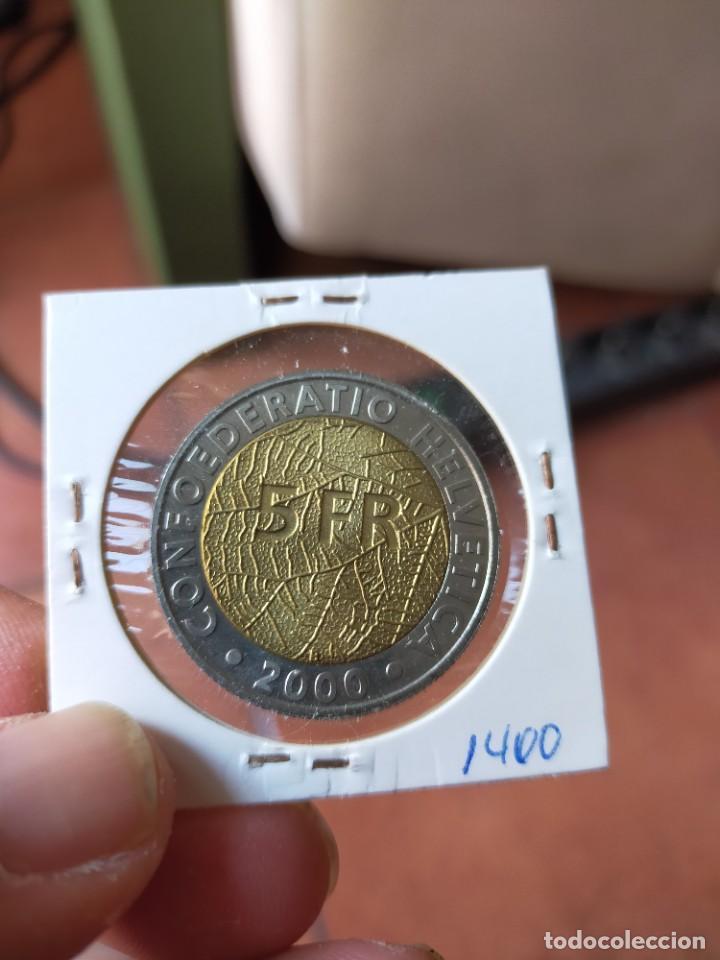 Monedas antiguas de Europa: MONEDA DE 5 CINCO FRANCOS 1850 2000 HAROLD STUPER SUIZA SIN CIRCULAR - Foto 2 - 254992815