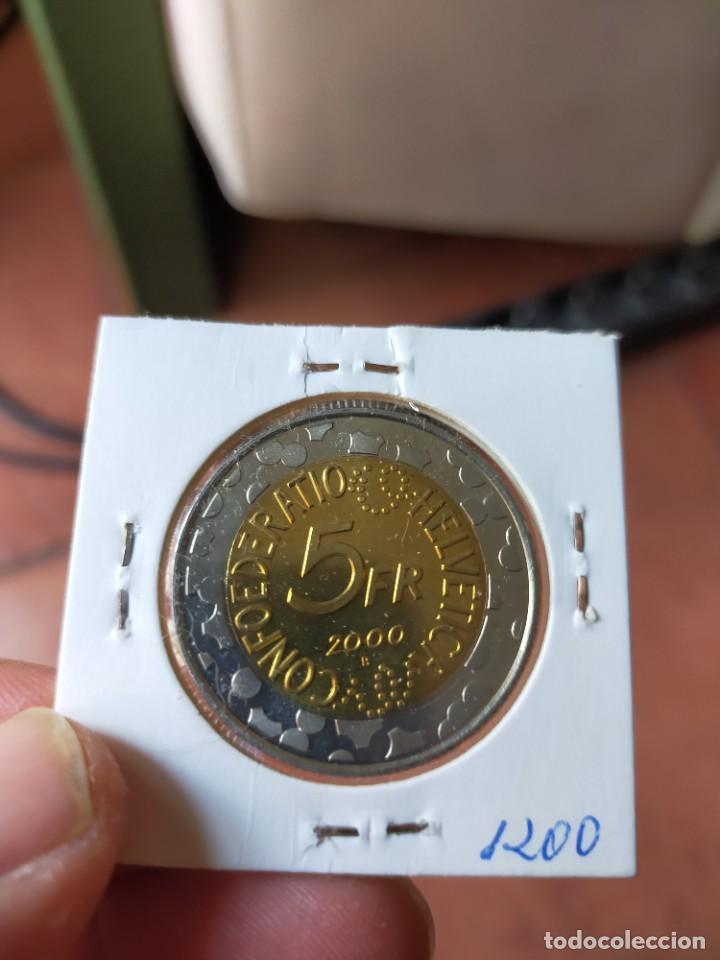 Monedas antiguas de Europa: MONEDA DE 5 CINCO FRANCOS 2000 BASLER FASNACHT SUIZA SIN CIRCULAR - Foto 2 - 254993040
