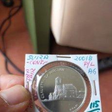 Monedas antiguas de Europa: MONEDA DE 20 VEINTE FRANCOS 2001 PRUEBA PLATA B CLAUSTRA DA MUSTAIR. Lote 254995350