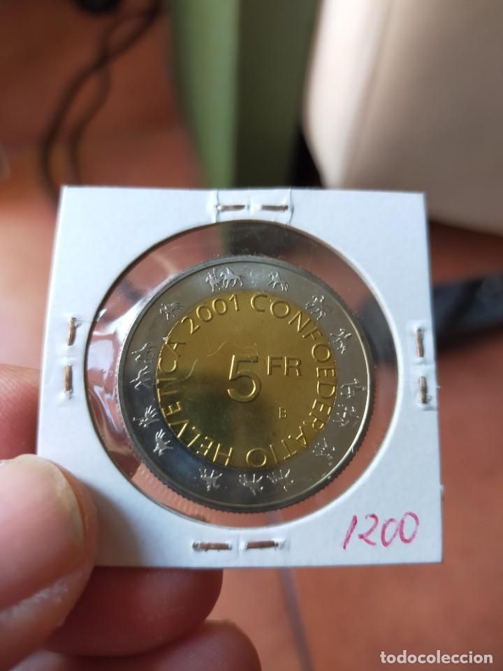 Monedas antiguas de Europa: MONEDA DE 5 CINCO FRANCOS 2001 B SIN CIRCULAR SUIZA ZURCHER SECHSELAUTEN - Foto 2 - 254995690