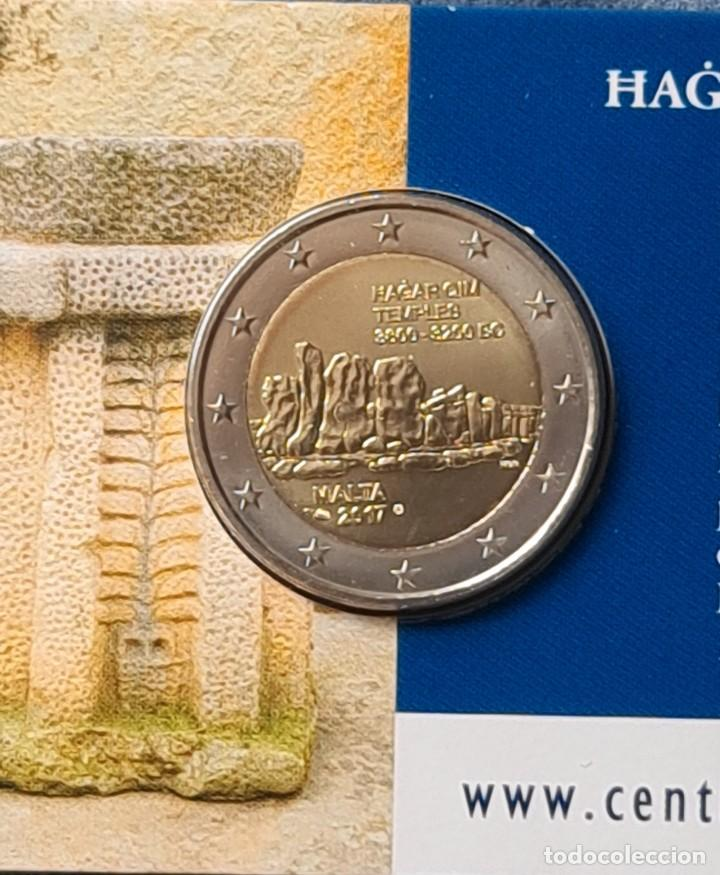 MALTA 2017 2 EUROS CONMEMORATIVOS COINCARD BU HAGAR QIM (Numismática - Extranjeras - Europa)