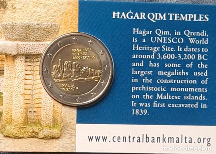 Monedas antiguas de Europa: Malta 2017 2 euros conmemorativos Coincard BU Hagar Qim - Foto 2 - 254996010