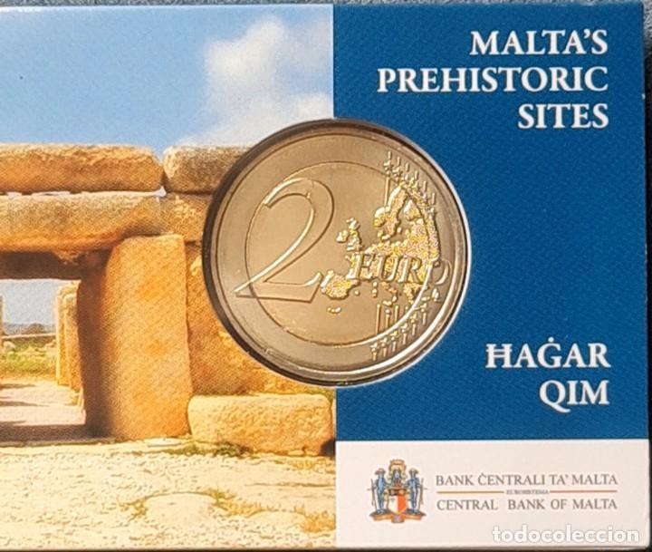 Monedas antiguas de Europa: Malta 2017 2 euros conmemorativos Coincard BU Hagar Qim - Foto 3 - 254996010