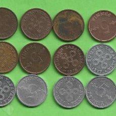 Monedas antiguas de Europa: FINLANDIA. 18 MONEDAS DE 5 PENNIA. 18 FECHAS, 2 MODELOS. Lote 254997000